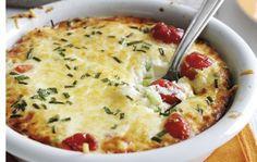 Clafoutis au chèvre frais et tomates cerises léger, recette d'un clafoutis salé et léger, facile et simple à réaliser pour un repas équilibré.