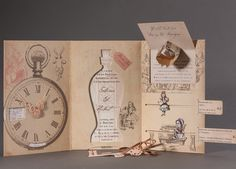 Interactive Alice in Wonderland theme Wedding Invitation for Sabrina and Hubert by Die exklusiven Einladungskarten