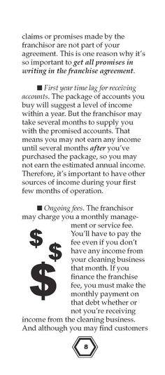 Page 07 Buying a Janitorial Services Franchise Pinterest - knowing about franchise contracts