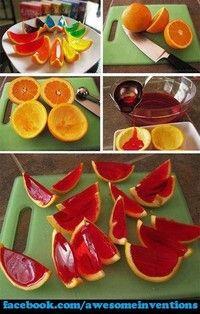 jello oranges! kid fun or + rum for adult fun!