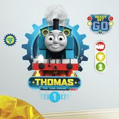 Room Mates HIT Entertainment Thomas the Tank Engine Peel and Stick Wall Decal
