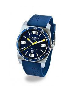 Orologio da Polso Locman Stealth T Blu 208 020800BBLWHYSIB