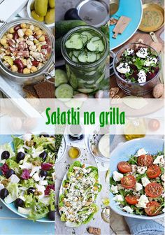 Moja smaczna kuchnia: Sałatki na grilla Food Design, Cobb Salad, Potato Salad, Grilling, Salads, Bbq, Food And Drink, Menu, Healthy Recipes