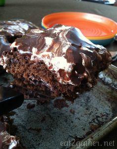 Marshmallow chocolate sheet cake