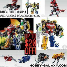 Pre-order at Hobby-Galaxy.com!  #Bandai #SuperMiniPla #MMPR #PowerRangers #Megazord #Dragonzord #ActionFigure #ModelKit Up to $20 off!  #powerrangersmovie #powerranger #mightymorphinpowerrangers #mightymorphin #sentai #hobbygalaxy