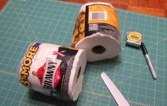 """""""I love paper towels! They're very handy when I'm making things, but I rarely need one square foot when working on projects. So I cut them half! And a half roll even fits on a toilet paper dispenser."""""""
