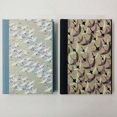 Chiyogami Birds, handmade notebook.