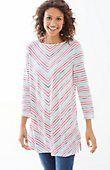 plus size chevron-striped knit tunic | J.Jill