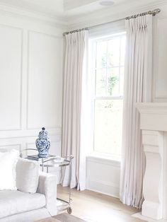 Simple Elegant White Linen Drapes (JS Home Design)