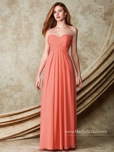 Style M1505 for bridesmaid option in royal and coral.