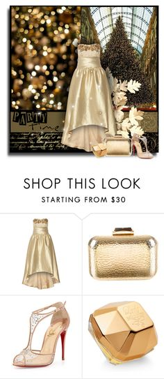 """""""Party time"""" by anna-survillo ❤ liked on Polyvore featuring Notte by Marchesa, KOTUR, Christian Louboutin, Paco Rabanne, marchesa, christianlouboutin and pacorabanne"""