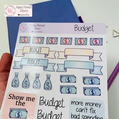 Excited to share this item from my shop: Budget stickers Calendar Stickers, Journal Stickers, Printable Stickers, Cute Stickers, Planner Stickers, Bullet Journal Monthly Calendar, Bullet Journals, Sticker Paper, Irene