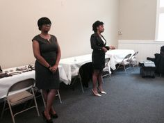Fashion stylists Amerika Brooks and Diandra White at the 2nd Annual Women's Business Makeover