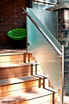 Of course, so as to reach a higher amount in our home, one needs to make use of the stairways. The stairways come in different lovely concepts. It can be a straightforward modern-day stairs along w… Steel Railing, Patio Railing, Stair Railing Design, Stair Handrail, Staircase Railings, Staircases, Tile Stairs, Glass Stairs, Patio Steps