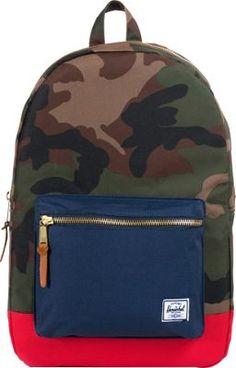 Herschel Supply Co. Settlement Laptop Backpack Woodland Camo / Navy / Red - via eBags.com!