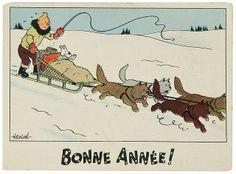 Adviento, esperando la navidad. Bonne Année Tintín!