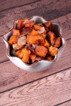 Diced Sweet Potatoes with Onion and Bacon