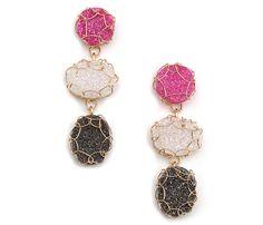 Cristina Amador druzy earrings 14k goldfill
