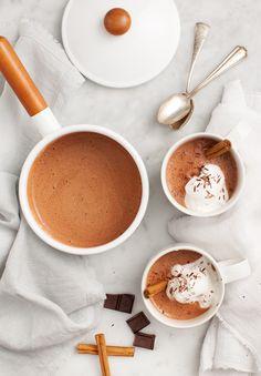 Maca Cacao Hot Chocolate via Love & Lemons