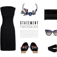 Statement Necklace by canvas-moods on Polyvore featuring moda, Canvas by Lands' End, Valentino, Givenchy, Tory Burch and…