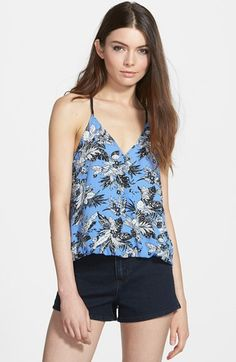 Lush Floral Print Cross Back Tank (Juniors) available at #Nordstrom
