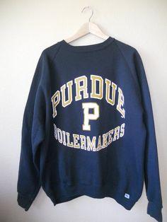 80's 90's  Vintage Sweatshirt PURDUE Boiler by ATELIERVINTAGESHOP, $30.00