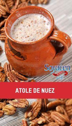 Bebida vegana y vegetariana, atole de nuéz / Mexican bevegare, nut atole.