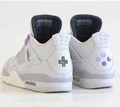 """Air Jordan 4 """"US Super Nintendo"""" Custom"""