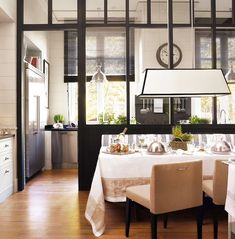 Interesting Way To Separate Kitchen Dining Room