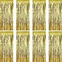 Sumind 8 Pack Foil Curtains Fringe Curtains Tinsel Backdrop Metallic Curtains for Birthday Wedding Party Photo Booth Decorations (Gold) Fringe Curtains, Foil Curtain, Baby Shower Purple, Photo Booth, Backdrops, Metallic, Decorations, Birthday, Party