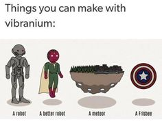 Things you can make with vibranium