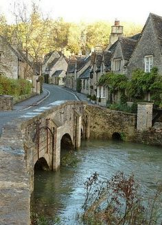 Castles Combe, England - Castle Combe still has a working medieval clock.