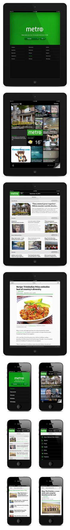 Metro News - iOS & Android App by Anna Karatcheva, via Behance