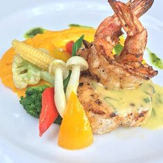 Butter Fish Prawn.. Tasty and Fresh!  We are open from 7am-11pm