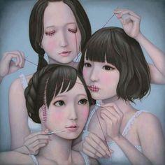 #tomoyoshisakamoto #surreal #surrealism #art #artist #drawing #painting #illustration #acrylic #dark #darkart #darksurrealism #darkillustration #japanese