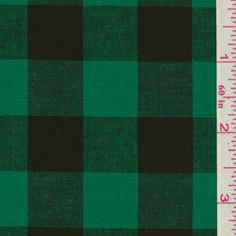 Green Plaid Shirting - 2 yds. Used for sleeveless Tova.