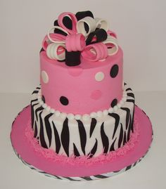 Pink Zebra Baby Shower Cake. Idea. But a ill different