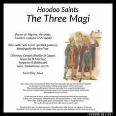 Hoodoo Saints: The Three Magi (posted by Eleanor) – Witches Of The Craft® Witchcraft Spell Books, Wiccan Spell Book, Hoodoo Spells, Magick Spells, Voodoo Hoodoo, Book Of Shadows, The Conjuring, Spelling, Tarot