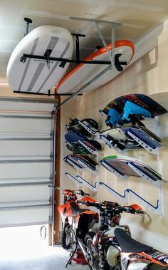: Creative DIY Garage Shelf Ideas That Will Amaze You and Overhead Storage Tips. : Creative DIY Garage Shelf Ideas That Will Amaze You and Overhead Storage Tips. Kayak Storage Rack, Diy Garage Storage, Diy Garage Shelves, Garage Organization, Storage Ideas, Shelf Ideas, Organizing, Kayak Rack, Storage Cart