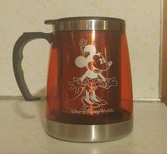 Walt Disney World Minnie Mouse Double Wall Thermal Insulated Mug Cup 500ml 16 oz