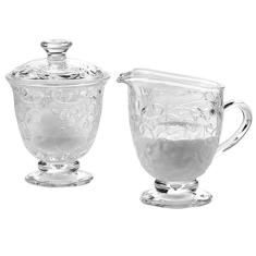 Fantasia Pedestal Sugar: Complete any table setting with the sweet sophistication of our Pedestal Sugar & Creamer.