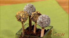 Cake Pops by Carla Hall The Chew Recipes, Cookbook Recipes, Great Recipes, Favorite Recipes, Special Recipes, Brownie Pops, Brownie Cake, Fun Desserts, Delicious Desserts