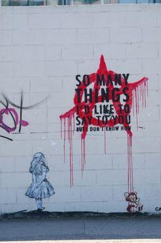 anarchy + oasis lyrics + Banksy = my kinda picture Graffiti Art, Banksy Art, Bansky, Street Graffiti, Urbane Kunst, Urban Art, Les Oeuvres, Alice In Wonderland, Wallpaper
