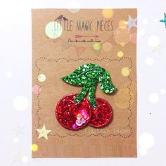 Cherries Glitter Hair Clip