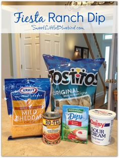 FIESTA RANCH DIP!  Only 4 ingredients! Quick and easy dip that's sure to please a crowd Super Bowl Sunday! |  SweetLittleBluebird.com