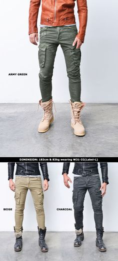 Mens Must Have Slim Vintage Crinkle Cargo Pants By Guylook.com