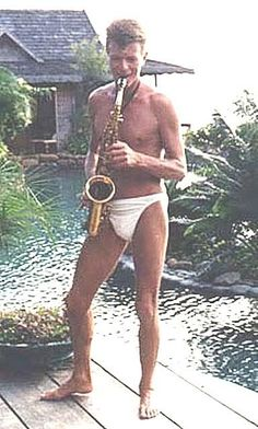 """Brian Eno on Twitter: """"David Bowie. In his underpants. Playing sax. #GreatestEverDavidBowiePic https://t.co/dkV7XEKoOE"""""""