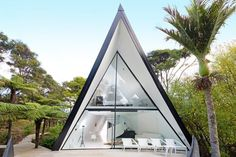 Modern and Luxurious Tiny A-frame Cabin 001