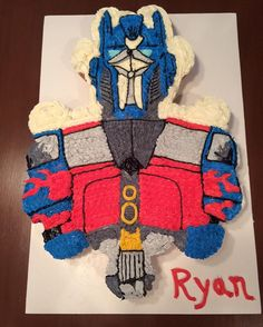 Transformer Birthday, Optimus Prime, Cake Pops, Transformers, Cupcake Cakes, Shapes, Cakepops, Cake Pop, Cupcake