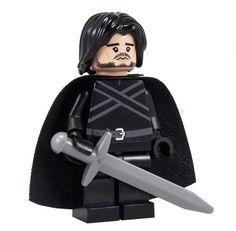 Jon Snow (The Bastard) - Custom LEGO Game of Thrones Style Minifigure via Etsy